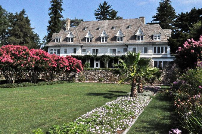 This photo provided by David Ogilvy & Associates shows Copper Beech Farm. The 12-bedroom waterfront estate on 50 acres in wealthy Greenwich has been sold for $120 million. Even though that's $70 m