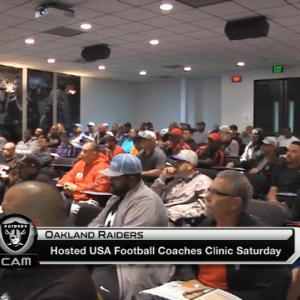 Oakland Raiders host USA football coaches clinic