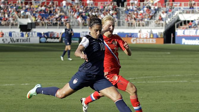US beats Russian women 7-0 in soccer exhibition