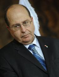 """But Israeli Vice Prime Minister Moshe Yaalon, pictured in 2011, said there was little sign that the existing sanctions was pushing Iran any closer to abandoning its plans. """"Iran is laughing all the way to the bomb,"""" he said. """"There is no sign that it feels threatened."""""""