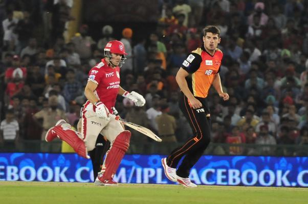 Mohali: Kings XI Punjab batsman David Miller in action during an IPL-2015 match between Sunrisers Hyderabad  and Kings XI Punjab at Punjab Cricket Association Stadium in Mohali, Punjab on April 27, 20