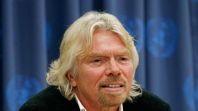 Sir Richard Branson, Daryl Hannah and GA President Srgjan Kerim hold a press conference on Climate Change Challenges - February 11, 2008
