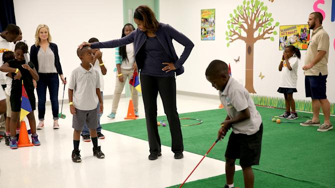 "Michelle Obama Visits Miami Parks For ""Let's Move"" Event"