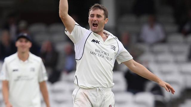 County - Middlesex on brink of victory