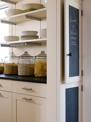 Use glass jars on your counters for oft-used items