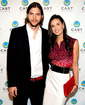 Ashton Kutcher, Demi Moore Throw Party for Two and a Half Men Gang
