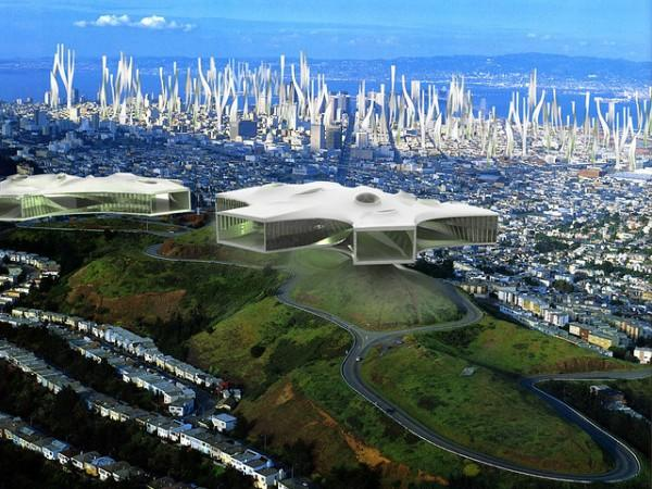 Are these floating amoeba structures the cityscape of the future?