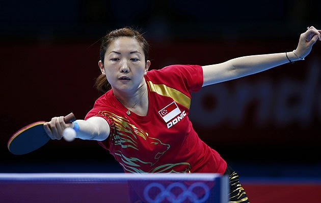 Li Jiawei won her singles match before teaming up with Wang Yuegu to deliver the bronze (Reuters)