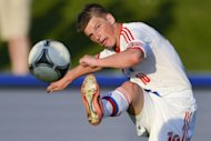 Russia's forward Andrei Arshavin, seen here in action on May 29, during a friendly match against Lithuania, in Nyon, in preparation for the Euro 2012 championship, which will take place in Poland and Ukraine from June 8 to July 1