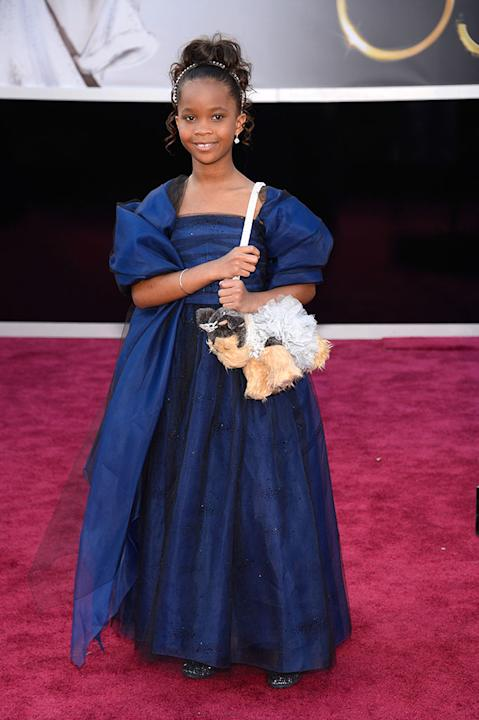 85th Annual Academy Awards - People Magazine Arrivals: Quvenzhane Wallis