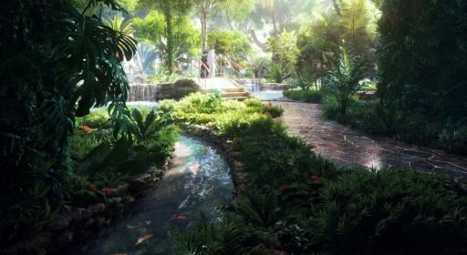 Une forêt tropicale pousse au cœur d'un hôtel à Dubaï