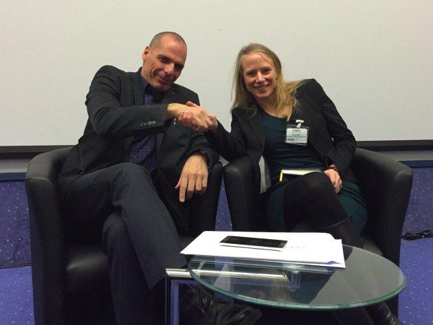 Business Insider Redakteurin Birgit Haas im Interview mit Griechenland Ex-Finanzminister Yanis Varoufakis