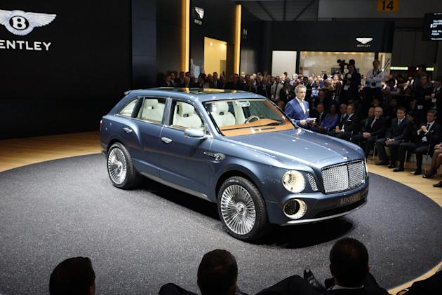 Bentley introduces the new EXP 9F at the Geneva Motor Show, which opens to the public March 8