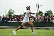 China's Li Na pictured at the Wimbledon tennis tournament in south-west London on June 27. China has announced a team of 396 athletes for the London Olympics, including tennis superstar Li, who won China's first Grand Slam title at last year's French Open