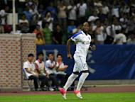 Shanghai Shenhua's Didier Drogba during their match against Guangzhou R&F on July 22. Drogba made an instant impact on his debut for the Chinese Super League side, setting up his new team's equaliser in a 1-1 draw away to Guangzhou R&F