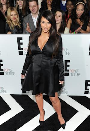 "Kim Kardashian from ""Keeping Up With The Kardashians"" attends the E! Network 2013 Upfront at the Manhattan Center on Monday, April 22, 2013 in New York. (Photo by Evan Agostini/Invision/AP)"