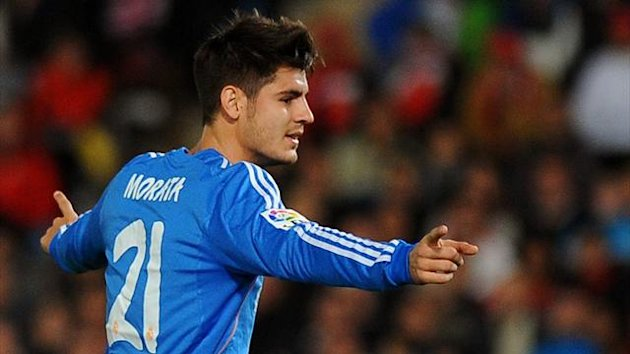 Real Madrid striker Alvaro Morata (AFP)