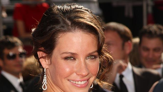 "Evangeline Lilly (""Lost"") on the red carpet at the 60th Annual Primetime Emmy Awards."