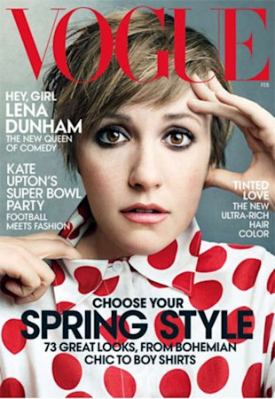Lena Dunham's first-ever Vogue cover