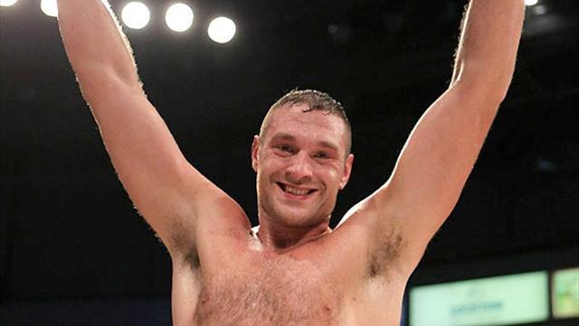 Boxing - Fury gets off canvas to knock out Cunningham in Garden