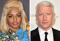 M.I.A.,  Anderson Cooper | Photo Credits: Pascal Le Segretain/Getty Images; Mike Coppola/Getty Images