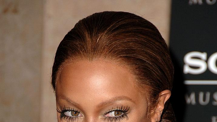 Tyra Banks at the 2007 Clive Davis Pre-GRAMMY Awards Party.