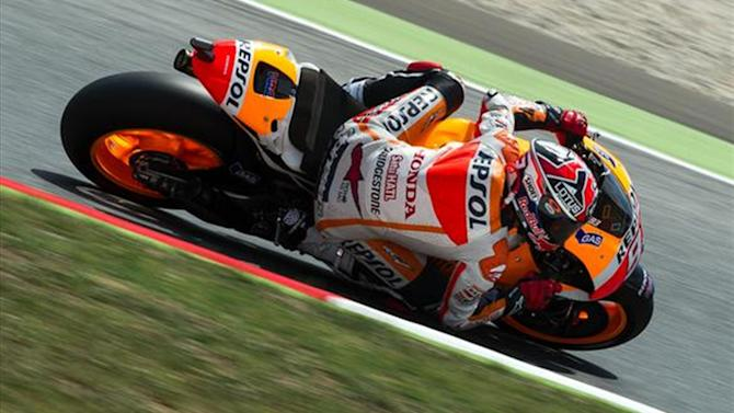 Motorcycling - Marquez in seventh heaven with thrilling Catalunya win