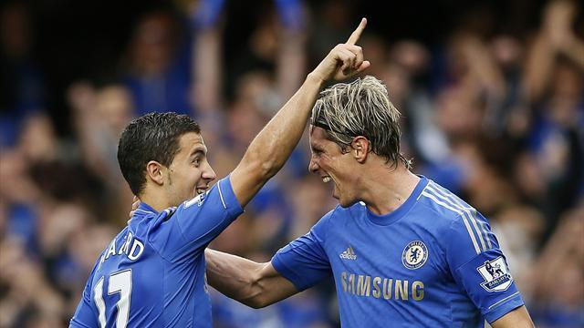 Premier League - Hazard helps Chelsea to third victory
