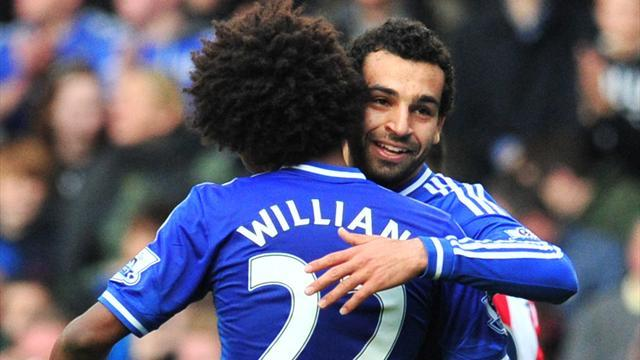 Premier League - Salah nets on first start as Chelsea outclass Stoke to regain top spot
