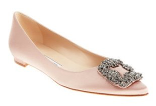 Flats can be pretty too! We love these silk Manolo Blahniks.