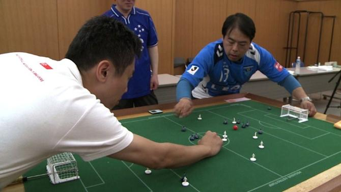 Hi-tech Japan gets lo-tech Subbuteo