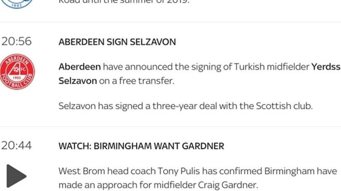 PHOTO: Parody Aberdeen Account Hilariously Tricks Sky Sports Into Announcing Fake Signing Online