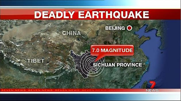 Huge quake rocks China