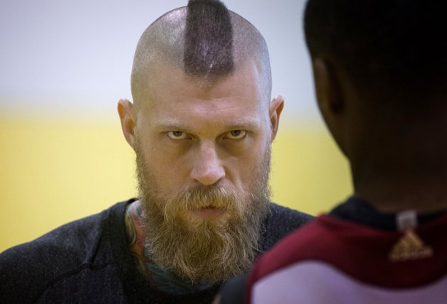 Chris Andersen stares directly through you. (AP/J Pat Carter)