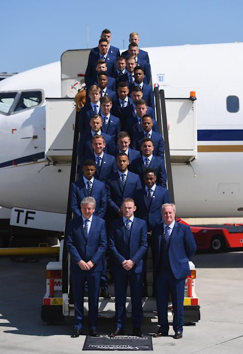 The England players depart for France and UEFA Euro 2016
