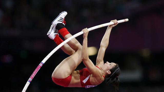 Olympic Games - Suhr shocks Isinbayeva for pole vault Olympic gold