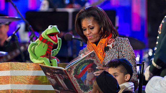 Michelle Obama Kermit The Frog National Tree Lighting Ceremony