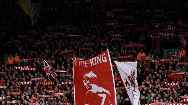 )  The Kop Display A Banner Honouring Liverpool Manager Kenny Dalglish Prior To The Barclays Premier League Match Getty Images
