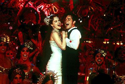 Nicole Kidman as Satine and Ewan McGregor as Christian in 20th Century Fox's Moulin Rouge