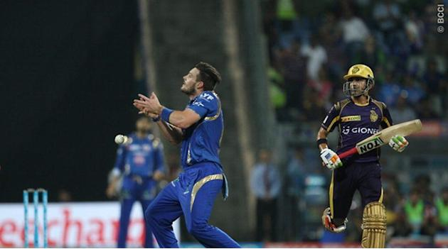 Live Cricket Score, IPL 2016, MI vs KKR: KKR slowed down slightly after quick loss of wickets against MI at Wankhede