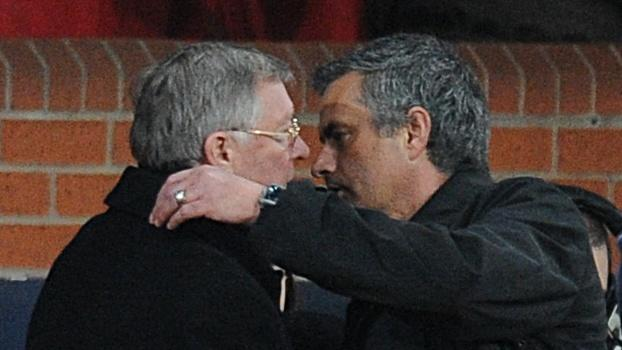 Sir Alex Ferguson, left, has hailed Jose Mourinho's, right, managerial record