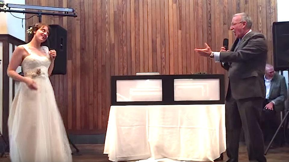 Dad And Daughter Perform Epic 'Dirty Dancing' Wedding Lip Sync