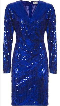 Vintage Collection Oleg Cassini Sapphire Sequin Dress - $230.00