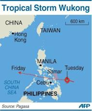 Tropical Storm Wukong make landfall in eastern Philippines on Christmas Day.
