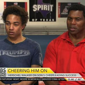 Football Legend's Son Takes up Cheerleading