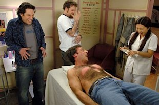 Waxing hurts. Just ask Steve Carell. Photo courtesy of Universal.