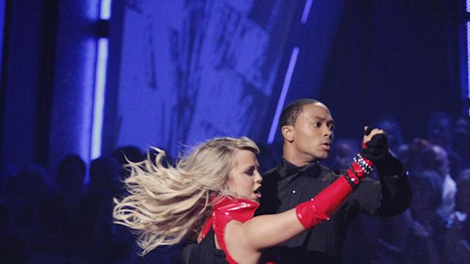 """Romeo and Chelsie Hightower perform on """"Dancing with the Stars."""""""