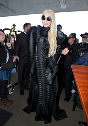 Lady Gaga is seen arriving at LAX airport on November 25, 2013 in Los Angeles -- Getty Images