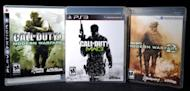 "A copy of ""Call of Duty: Modern Warfare 3"" is displayed between its predecessors, ""Call of Duty 4: Modern Warfare"" (L) and Call of Duty: Modern Warfare 2"" (R) in 2011. A free version of the blockbuster video game ""Call of Duty"" will be offered to players in China, the developers said Tuesday"