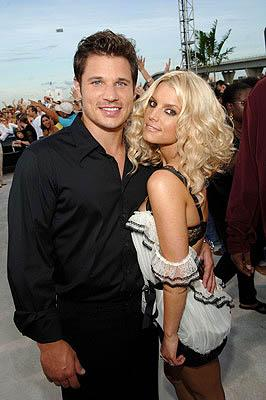 Nick Lachey and Jessica Simpson MTV Video Music Awards Arrivals - 8/28/2005